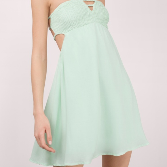 1e9f5bc240f Tobi Mint Green Strappy Low Back Summer Dress